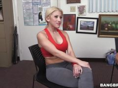 Cristi Ann shows of her flexible skills