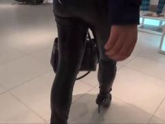 fucked and cum on leather ass