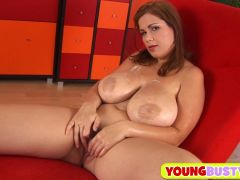 Hot teen with monster natural tits