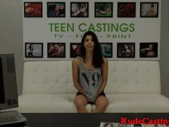 Casting Teen Roughfucked During Sexaudition