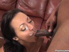 Sandra Romain fucks with black guy