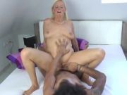 43 Year Old MILF Fucking with 19 Years Old Black Boy...