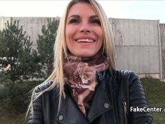 Hot Blonde Fucked Agent In Public