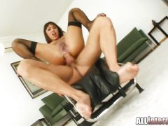Hot babe Shanis takes this hard dick deep in her ass