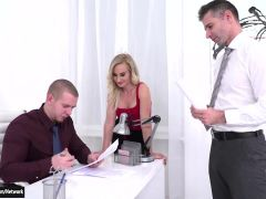 Helena Valentine Sucks N Double Penetrated By Her Two Bosses
