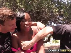 Two white dicks for Nikki Ford