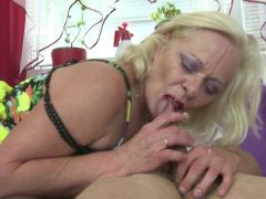 Old granny suck and fuck young cock like true whore
