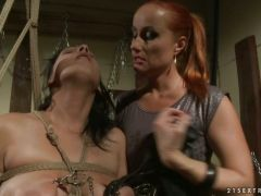 Katy Borman inflicts some pain on her sexy slave