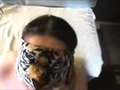 Chunky doll blindfolded and facefucked