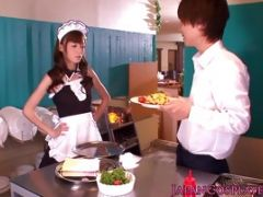 Cute Jap Ho In Maid\'s Outfit Gets Plowed Hard