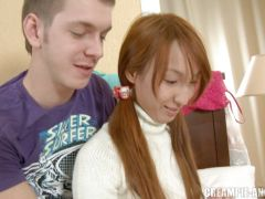 Teen redhead is squirted internally