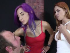 Amadahy and Edyn Blair Slave Covered in Spit