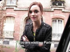 European redhead picked up for a fucking