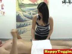 Asian Massager Gets On Top To Ride Her Client Happily