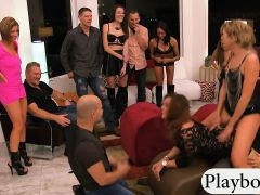 Couples Swinging And Groupsex In The Bedroom Of Playboy