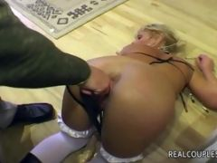 Wife is toyed and fingered by dominant husband