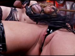 Sizzling Kagney Karter torments a tied up Amy Brooke