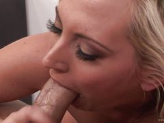 Seductive Skyler Price swallows her boss\'s seed