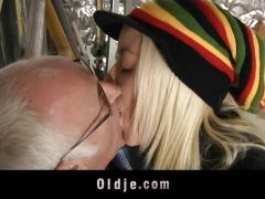 Old boss fucks his hot blonde assistant