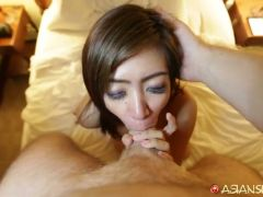 Hot babe with a nice booty gives up her kitty to a hard fuck