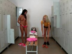 SEXY Euro girls get fucked in the locker room