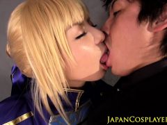 Japanese fantasy babe in costume fucked