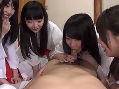 Group of Cute Japanese Teens Fucked By Their Sensei