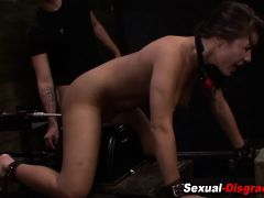 Bdsm slut gets toyed hard