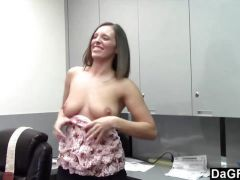 Teen loves Fucking at work in the office
