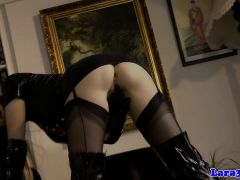 Euro Mature In Schoolgirl Outfit Pussylicked