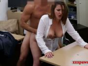 Foxy busty lady drilled for plane ticket