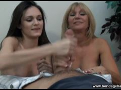 mom and daughter pov handjob