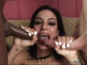 Angelina Valentine gets showered with warm dick juice