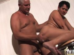 Mature Lady With Divine Hooters Fucks A Dawg\'s Cock