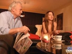 Grandpa is Fucked by Cute Girl Alice Romain