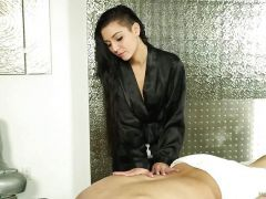 Aimee Black massages with her mouth