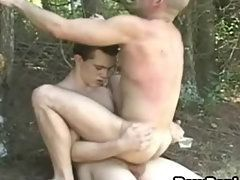 Hunky Gay Dudes Hammered Hard With Each Other In Outdoor
