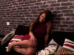 Mistress watches loser