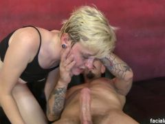 Blonde\'s Mouth Fuck Before Butt Fuck