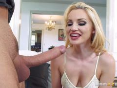 Blonde Staci Carr enjoys a fantasy cock