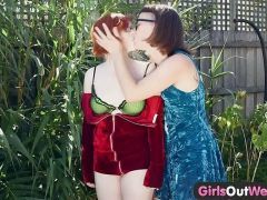 Girls Out West - Horny unshaved dykes lick hairy twats