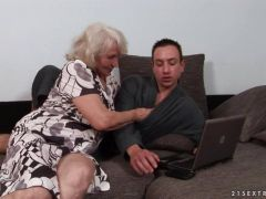 Grandma loves to suck and fuck cock
