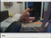 Italian Young couple on Chatroulette