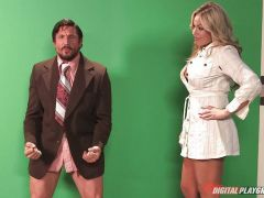 Olivia Austin drilled in her sweet and sexy pussy pie by the weather man