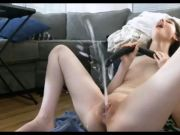 Cumming loud and squirting loads