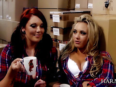 Hot Lesbian Threesome with the boss Samantha Bentley