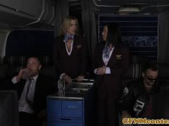 Stewardess Cfnm Babe Analfucked On Plane