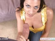 Rachel Starr rides this thick shaft
