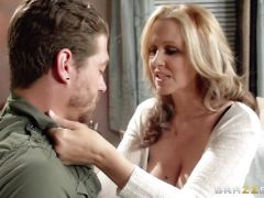 Julia Ann gets pumped by her sons friend