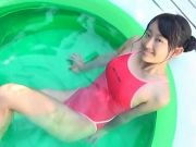 Asian Teen Red Swimsuit Pure non - nude